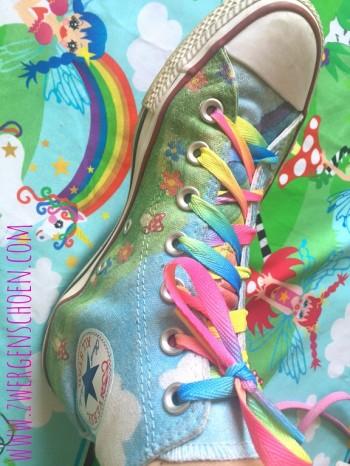 ♥SCHNÜRSENKEL♥ Rainbow REGENBOGEN 1 Paar 115cm LÄNGE