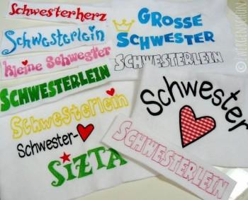 ♥SCHWESTERHERZ♥ FONTS German EMBROIDERY 13x18cm