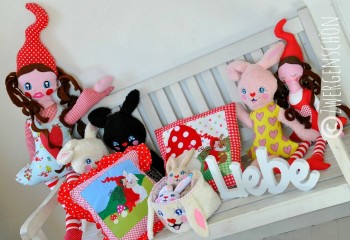 ♥MILLI in LOVE with BUNNY♥ Embroidery FILE-SET 13x18cm ITH Special