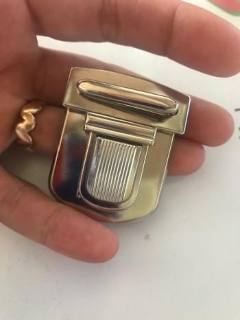 ♥STECKSCHLOSS♥ Mappenverschluss 4tlg NICKEL 4cm BREITE