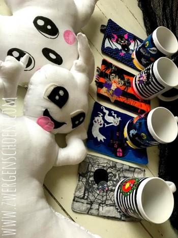 ♥GRUSELschön♥ Tassenteppiche MUG RUG Stickdatei-SET 13x18cm ITH