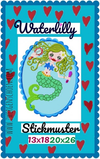 ♥WATERLILLY♥ mermaid NIXE 13x18cm 20x26cm