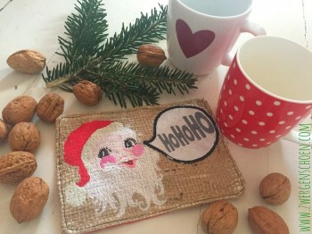 ♥SANTA BABY♥ Embroidery MUG RUG Xmas ITH 13x18cm