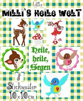♥little MILLI`s idyllic world♥Embroidery file-set 10