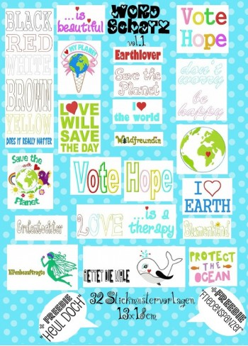 ♥SWEET Vocabulary Vol.1♥embroidery file 13x18cm