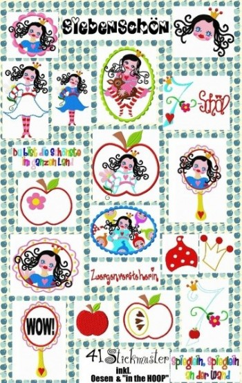 ♥BEAUTYseven♥ XXL embroidery-file-set 13x18cm
