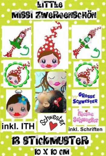 ♥little MISSI Zwergenschön♥ SPEZIAL Stickmuster 10x10cm