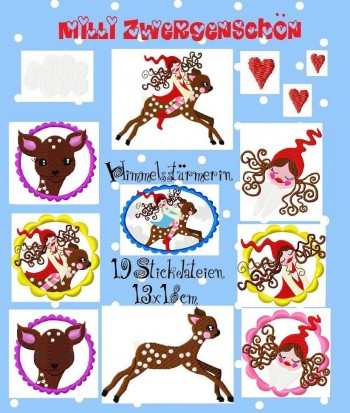 ♥MILLI in the SKY♥ Embroidery FILE 13x18cm