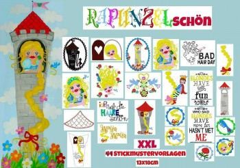 ♥RAPUNZELSCHoeN♥ XXL Embroidery FILE Set 13x18m