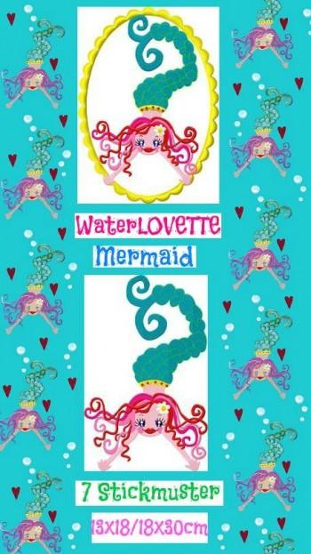 ♥WATERLOVEtte♥ MERMAID Embroidery-File SET 13x18cm 18x30cm