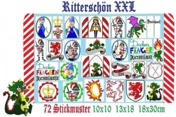 ♥RITTERSCHÖN XXL♥ Stickmuster-SET SPEZIAL