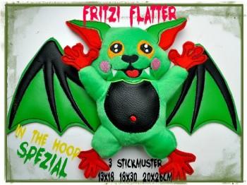 ♥FRITZI FLATTER♥ Batmouse ITH Spezial 13x18 18x30 20x26