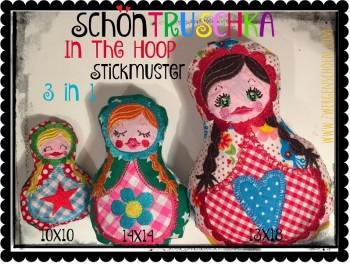 ♥SchönTRUSCHKA♥ 3in1 STICKMUSTER 10x10 14x14 13x18 IN THE HOOP
