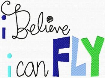 ♥I BELIEVE I CAN FLY♥ Stickmuster 1€-SPARbie 13x18cm