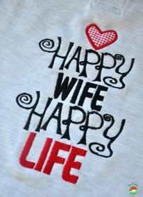 ♥HAPPY wife HAPPY life♥ Embroidery-FILE 1€-SPARbie