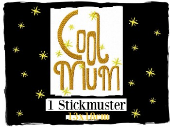 ♥COOL MUM♥ Stickmuster 1€-SPARbie