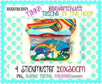 ♥RAINBOW FAIRY♥ Embroidery FILE inTHEhoop 20x30cm ZIPPER Special