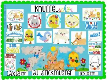 ♥KNUFFELschoen♥ EMBROIDERY File-Set inkl. WORDS 10x10 13x18cm