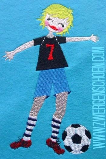 ♥FOOTBALLSTAR♥ Embroidery FILE 13x18cm 20x30cm