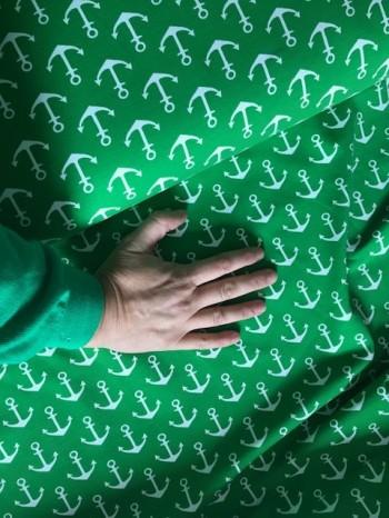 ♥ANKER♥ 0.5m SWEATSHIRT grün GREENERY