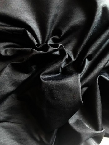 ♥SWIMwear♥ 0.5m Badeanzug Stoff Uni SCHWARZ