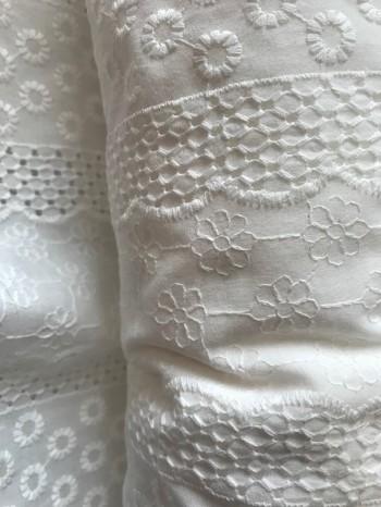♥LINGERIE♥ 0.5m ECRU Cotton EMBROIDERY