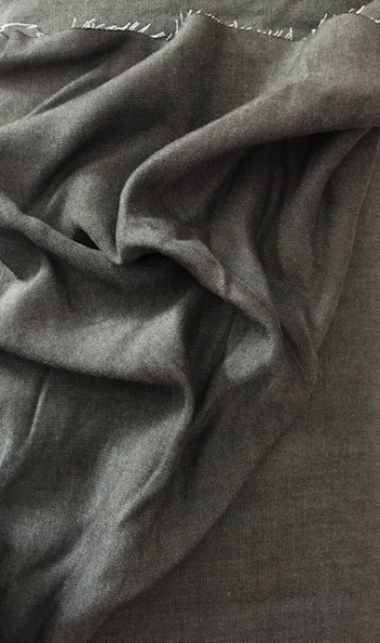 ♥CHAMBRAI♥ 0.5m CHAMBRAY TENCEL Cotton GREY/BLACK