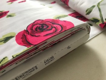 ♥COTTON LYCRA ROSES♥ 0.5m ROSENSCHÖN Webware LUXURY
