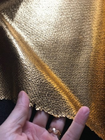 ♥GOLDSTÜCK♥ 0.25m KRÄFTIGES Glitzer STRUKTUR waschbar GOLD
