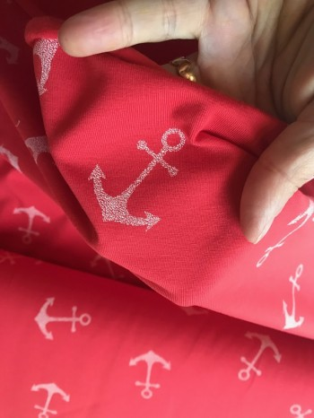 ♥ANCHOR♥ Jersey red PRICE per 0.5 METER