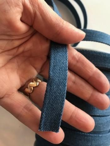 ♥FLACHKORDEL♥ Kordel JEANS blau DENIM 15mm