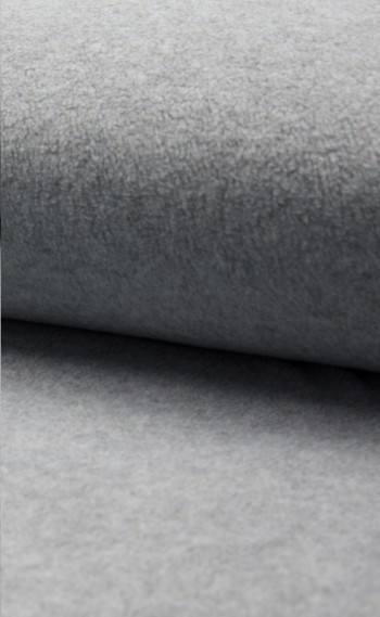 ♥POLAR FLEECE de LUXE♥ 0.5m FLEECE grau MELANGE