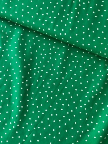 ♥IRRGEGULAR DOTS♥ 0.5cm cotton GREEN Popeline LOVELY LIBERTY