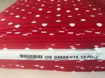 ♥POLKA DOTS♥ 0.5m Jersey Punkte FLIEGENPILZ rot 0,5cm