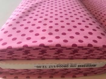 ♥POLKA DOTS♥ 0.5m JERSEY pink ROSE