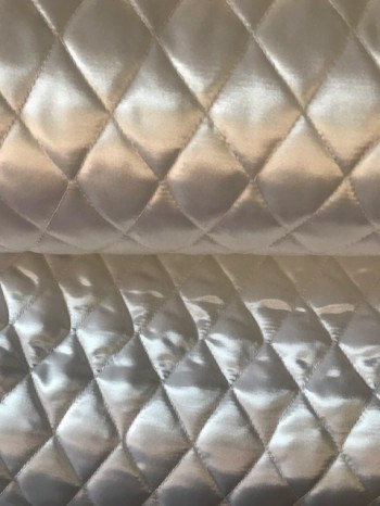 ♥QUILTED Satin♥ 0.5m WHITE