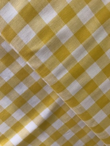 ♥LANDLIEBE♥ 0.65m WEBWARE Baumwolle KARO gelb VICHY