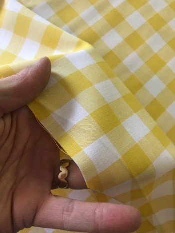 ♥GINGHAM♥ 0.5m WOVEN COTTON yellow