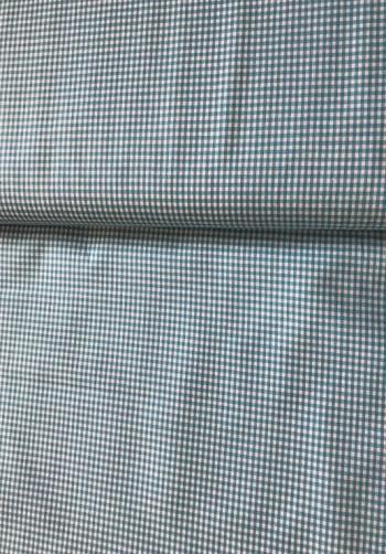 ♥Mini VICHY♥ 0.5m BAUMWOLLE kleinkariert AQUA