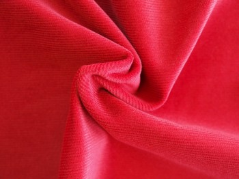 ♥FEINCORD♥ 0.5m ROSEN rot BAUMWOLL-CORD