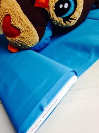 ♥UNI-BAUMWOLLE♥ 0.5m TÜRKIS Webware POPELINE blau