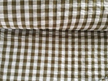 ♥SEERSUCKER♥ Vichy FABRIC cotton-mix PRICE per 0.5METER brown