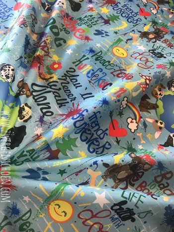 ♥WUFFz on GRAFFITISCHÖN♥ 0.59m NYLON Hunde BLAU