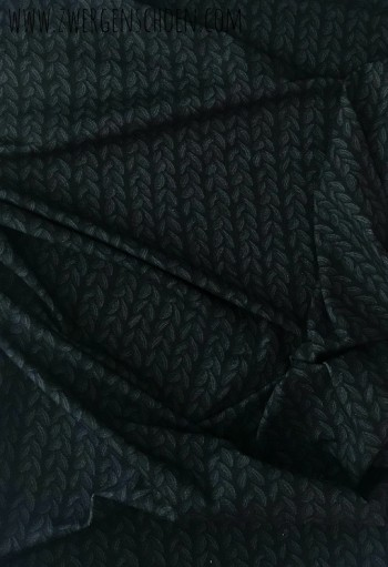 ♥STRICKWUNDER♥ 90cm JERSEY dunkelgrau/black RESTSTÜCK
