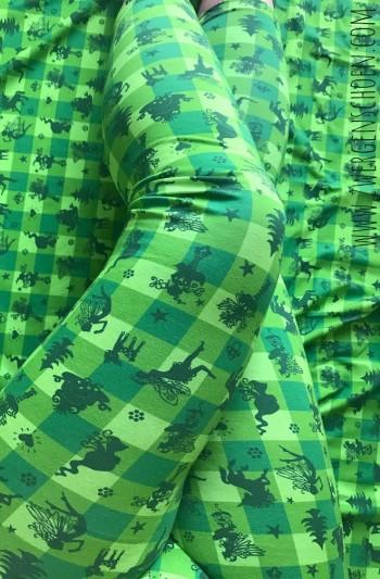 ♥FAIRYTAUSENDSCHÖN♥ on VICHY 0.5m JERSEY grün