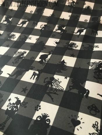 ♥FAIRYTAUSENDSCHÖN♥ on VICHY 0.5m WEBWARE schwarz/grau