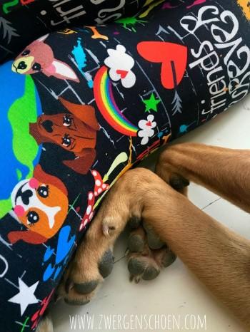 ♥WUFFz on GRAFFITISCHÖN♥ 0.5m JERSEY Hunde BLACK