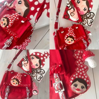 ♥MISSI♥ 30cm figurine Panels SET cotton DIGIPRINT