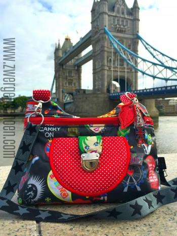 ♥MIX of LONDON♥ 0.5m beschichtete Baumwolle ANTHRAZIT