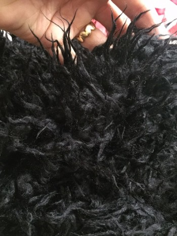 ♥FAKE FUR♥ Teddy BLACK MAGIC Price per 0,5 (!!!) METER